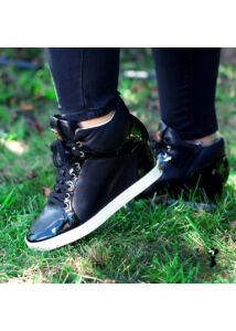 Telitalpú fekete Högl bőrcipő