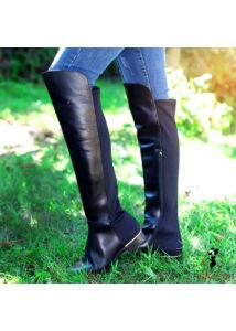 Högl fekete bőr lovaglócsizma