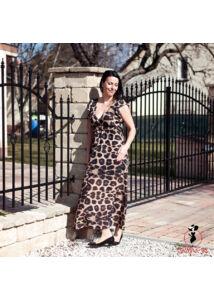 Maxi öves, leopárd mintás ruha