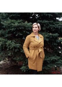 Csillogó rövid öves kabát