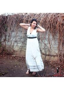 Fehér csipke ruha