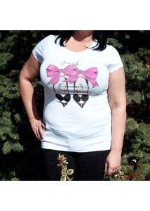 Cipellő-mintás pamut póló