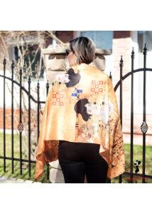Klimt-mintás sál