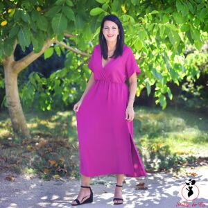 Egyszínű maxi ruha