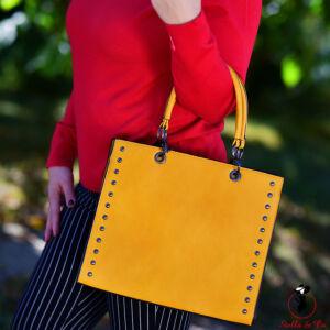 Elegáns mustársárga táska