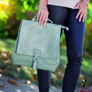 Melegzöld színű hátitáska/válltáska