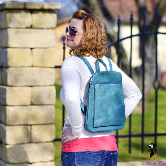 Türkiszzöld színű hátitáska