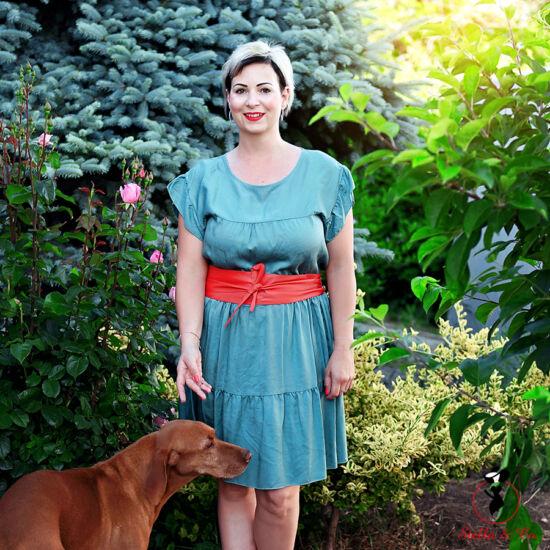 A-vonalú lyocell ruha