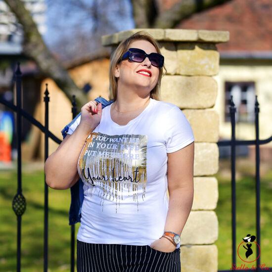 Arany- feliratos póló