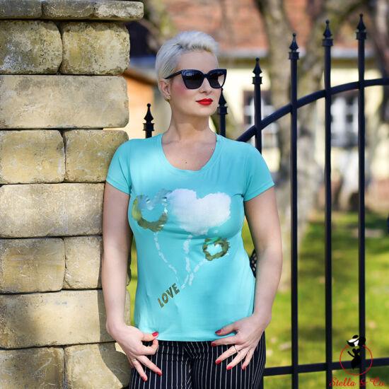 Lufis-Love feliratú póló