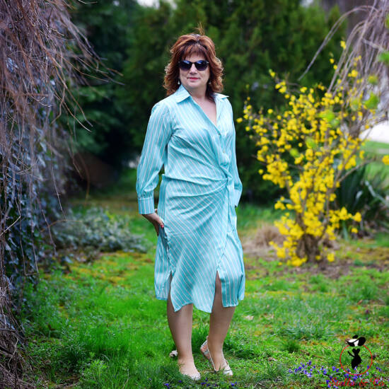 Asszimetrikus szatén ingruha/tunika