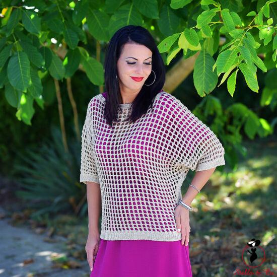 Csillogó lyukacsos pulóver