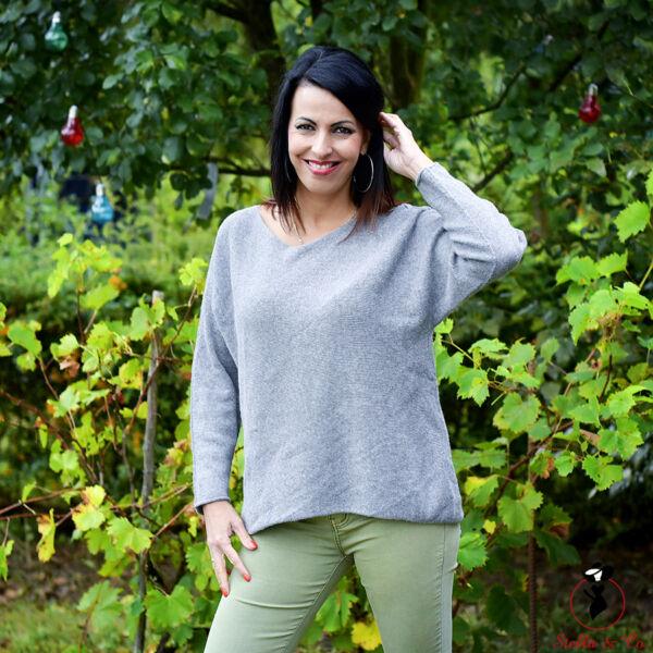 Egyszínű kasmír pulóver