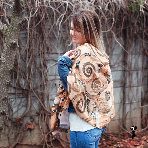 Klimt - Az élet fája mintás sál
