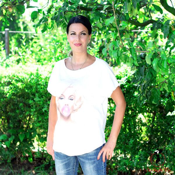 Marilyn Monroe mintás póló (rágós)
